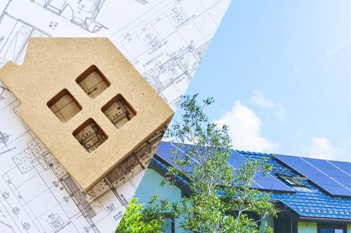 間取り変更と耐震補強はセットで 屋根材の変更とソーラーパネルは同時にイメージ画像