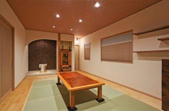 モダンで上品にしつらえた和室。