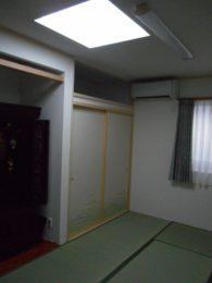 和室は窓が一つしか付けられなかったため、トップライトを付けました。これだけでも十分な明るさです。