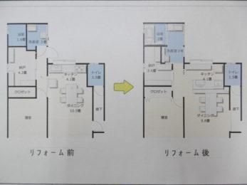キッチンから洗面所に行く廊下スペースを有効に活用!!洗面所もキッチンも広々使いやすく設計しました