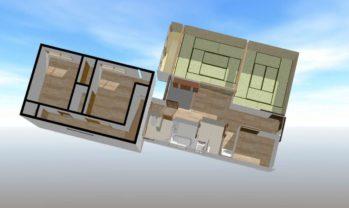 3Dパース 2階部分です(左側)