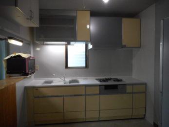 L型対面から壁付I型キッチンへリフォームafter
