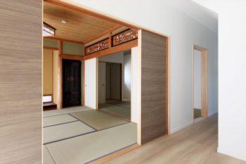 洋風にも馴染む建具で和室の印象も変わりました